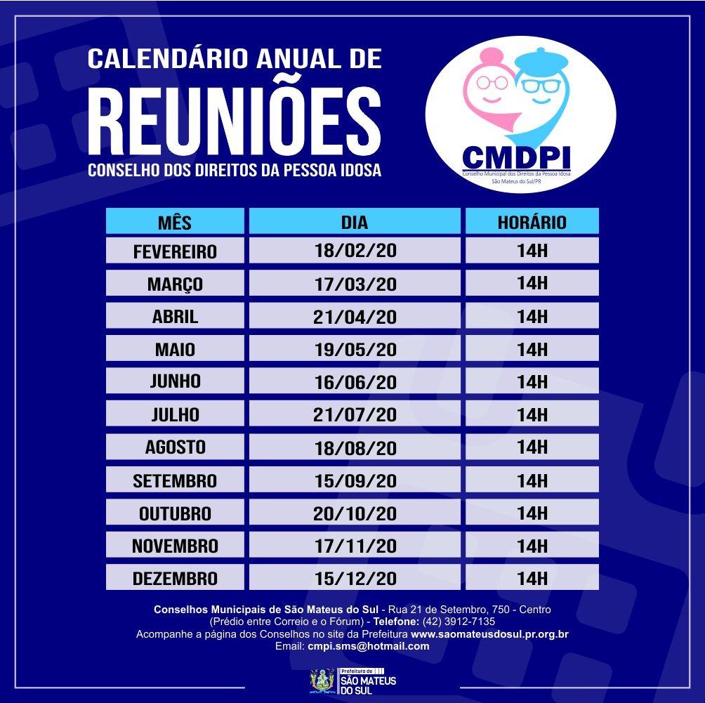 Calendário CMDPI
